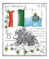 Joint issue San Marino - Italy 75th Anniversary of the Convention of Friendship and Good Neighbourhood between San Marino and Italy
